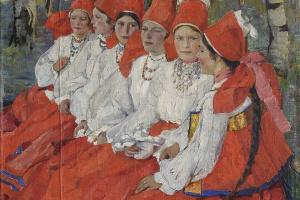 Elena Andreevna Kiseleva. Bride. The day of Pentecost