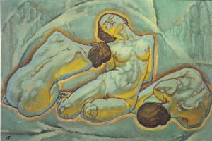 Koloman Moser. Three Woman Squatting