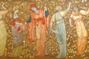 Frieze of Eight Women Gathering Apples
