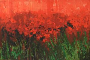 """Poppies"", acrylic on canvas. Poppies. Acrylic on canvas."