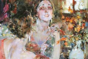 Portrait Of Vera Fokina.