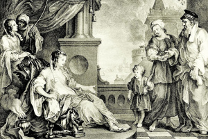 Маленький Моисей перед дочерью фараона