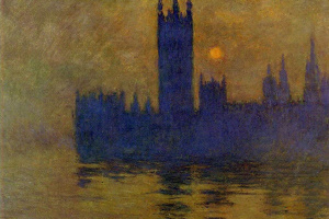 Claude Monet. Westminster Palace, sunset