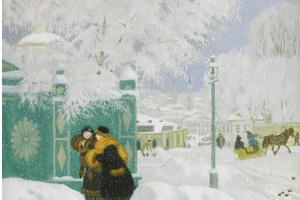 Борис Михайлович Кустодиев. Зимняя сцена