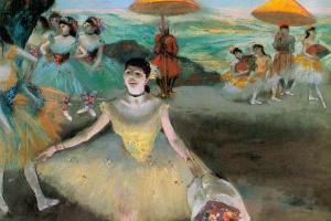 Эдгар Дега. Балерина с букетом в поклоне