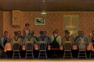 Грант Вуд. Ужин для молотильщиков