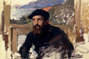 Self-portrait in his Studio