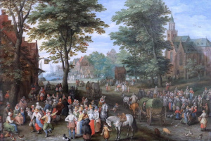 Ян Брейгель Старший. Деревенская сцена (Деревня Кермесс)