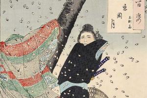 """Порыв ветра на Синобугаокэ. Серия """"100 видов луны"""""""