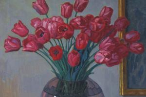 Николай Петрович Богданов-Бельский. Натюрморт с тюльпанами