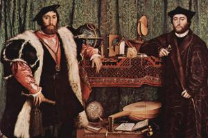 Ганс Гольбейн Младший. Портрет французских послов Жана де Дентвиля и Жоржа де Сельва