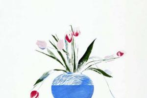 Дэвид Хокни. Тюльпаны