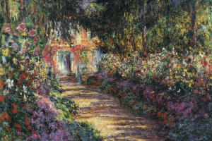 The path through the garden at Giverny