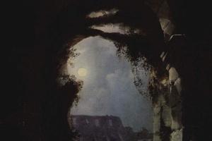 Карл Густав Карус. Вид Колизея в лунную ночь