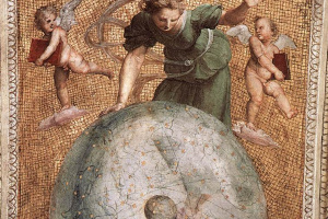 Станца делла Сеньятура. Фрагмент росписи потолка. Двигатель Вселенной или Астрономия