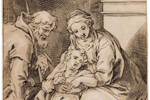 Святое семейство у камина