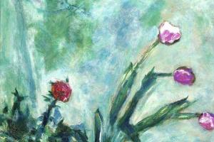 Марк Захарович Шагал. Фиолетовые тюльпаны