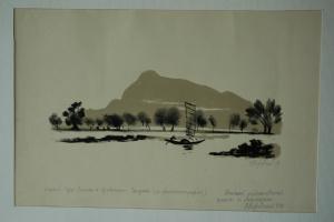 О.Г. Верейский. Китай гора Ситань, провинция Сычуань- 1958г.