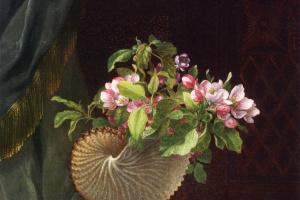 Мартин Джонсон Хед. Викторианский натюрморт с веткой цветущей яблони