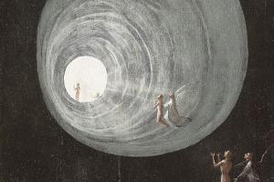 Иероним Босх. Вознесение праведников. Полиптих Видения загробного мира (Блаженные и проклятые). Левая панель