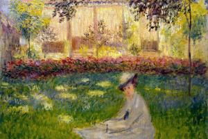 Клод Моне. Женщина в саду