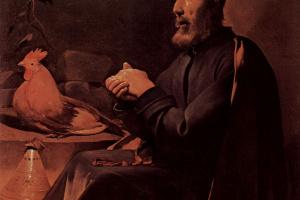 Жорж де Латур. Раскаяние св. Петра