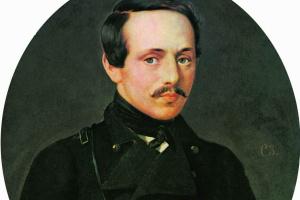 Portrait of the poet M.Yu. Lermontov