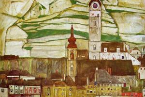 Эгон Шиле. Штайн на Дунае. Вид с юга