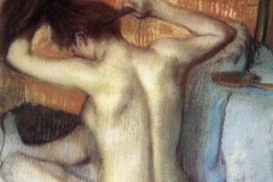Эдгар Дега. Причесывающаяся женщина