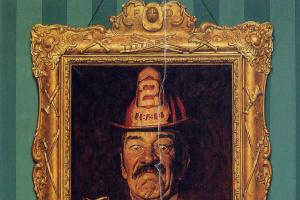 Норман Роквелл. Портрет пожарника и зажженная сигара