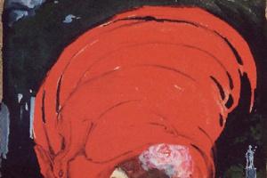 Лев Шнуг. Дама в большой красной шляпе