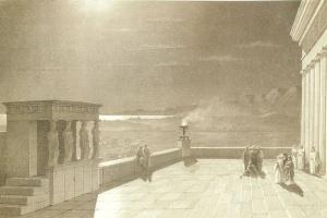 Акрополь в Афинах в лунную ночь