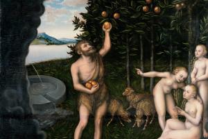 Лукас Кранах Старший. Геркулес похищает яблоки Гесперид