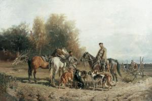 Сбор на охоту. 1887