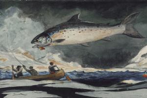 Уинслоу Хомер. Удачная рыбалка. Река Сагеней