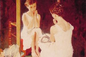 """Девочка у зеркала. Обложка журнала """"The Saturday Evening Post"""" (6 марта 1954 год)"""