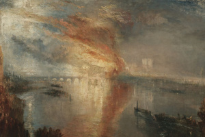 A fire in the houses of Parliament on 16 October 1834