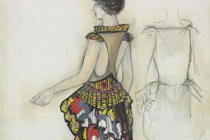 Эскиз платья La Phenicienne
