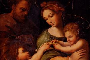 Рафаэль Санти. Святое семейство с Иоанном Крестителем