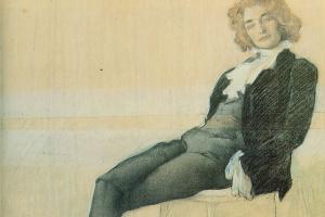 Портрет писательницы Зинаиды Николаевны Гиппиус
