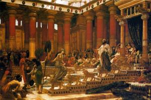 Edward John Poynter. The visit of the Queen of Sheba to king Solomon