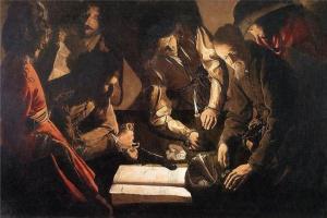 Georges de La Tour. Payment (the lender)