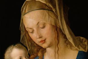 Альбрехт Дюрер. Богородица и ребенок с грушей