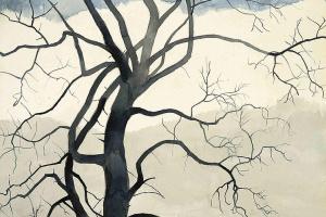 Леон Спиллиарт. Lonely tree near a lake (Arbre solitaire au bord de l'étang), 1929