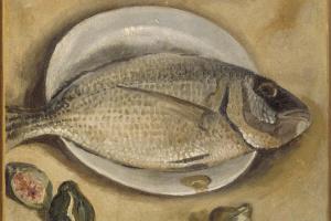 Сальвадор Дали. Натюрморт с рыбой (Салема)