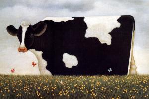 Корова весной