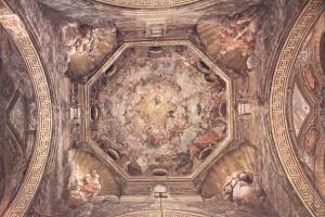 Антонио Корреджо. Роспись купола в кафедральном соборе, Благовещение. Общий вид