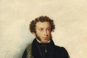 Александр Иванович Клюндер (Клиндер). Портрет А.С. Пушкина