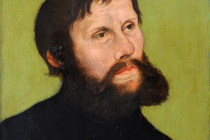 Lucas Cranach the Elder. Portrait of Martin Luther in the way of Juncker York