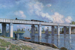 Клод Моне. Железнодорожный мост в Аржантее